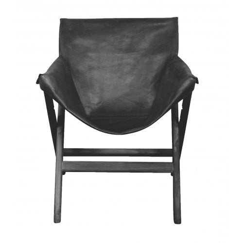 Black Leather Glove Chair