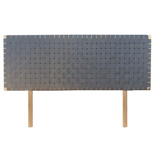 Grey Woven Leather Headboard