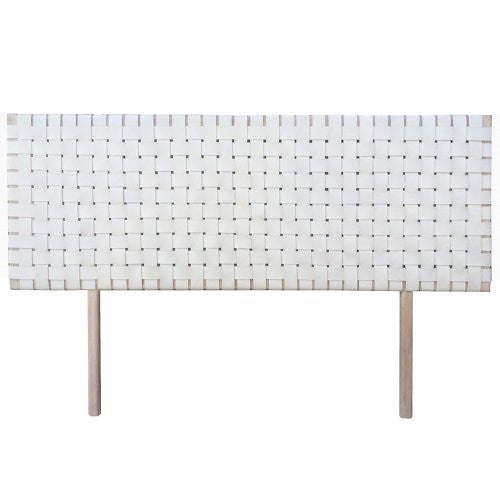 White Woven Leather Headboard