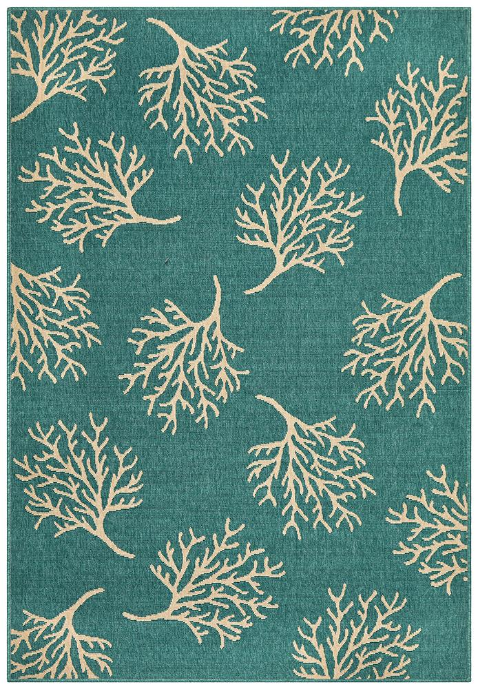 Alfresco Indoor Outdoor Collection 6503 Turquoise Rug