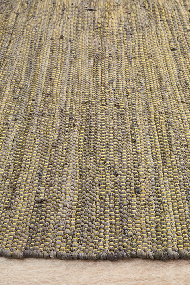 Atrium Mina Stunning Cotton Rug Yellow