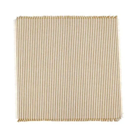 Abby Stripe Napkin set/4 Mustard