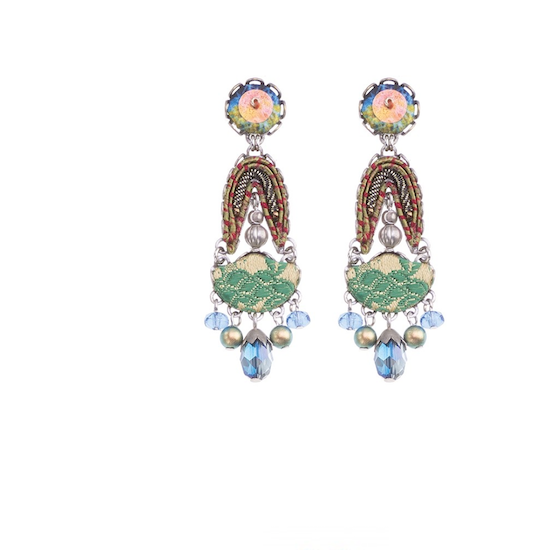 Ayalabar Fiesta Green Nisha Earrings