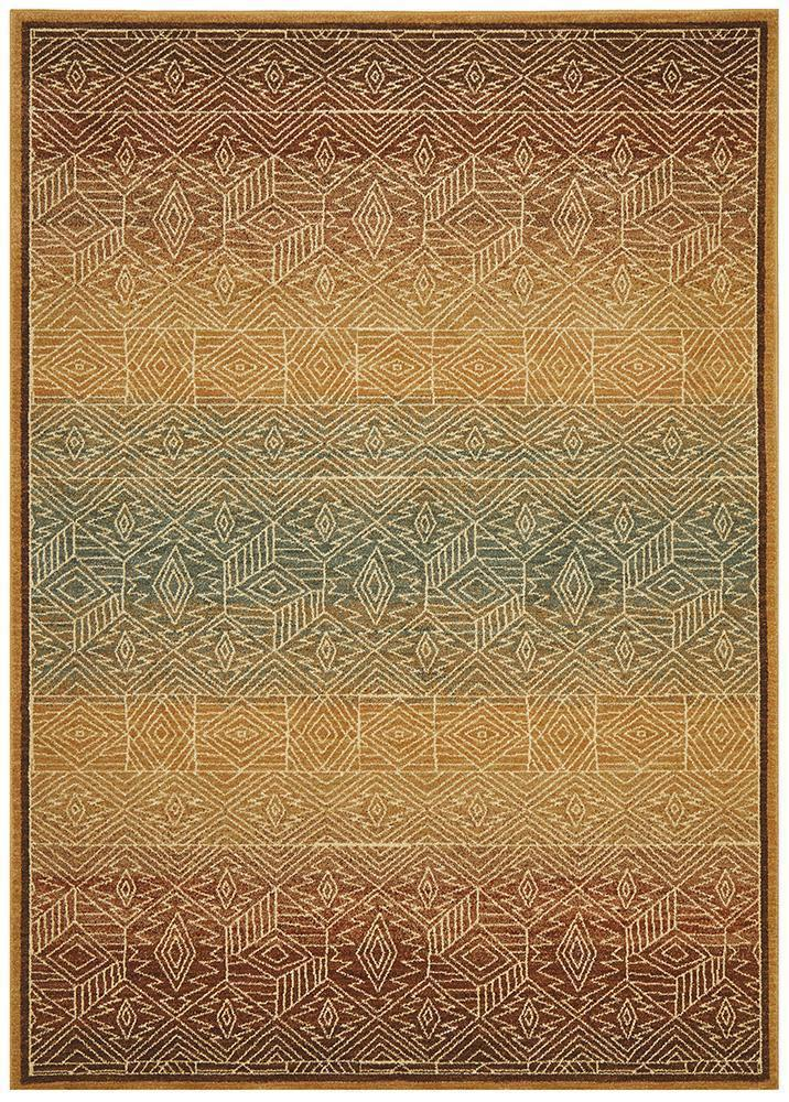 Byblos Tribal Design Gold Rug