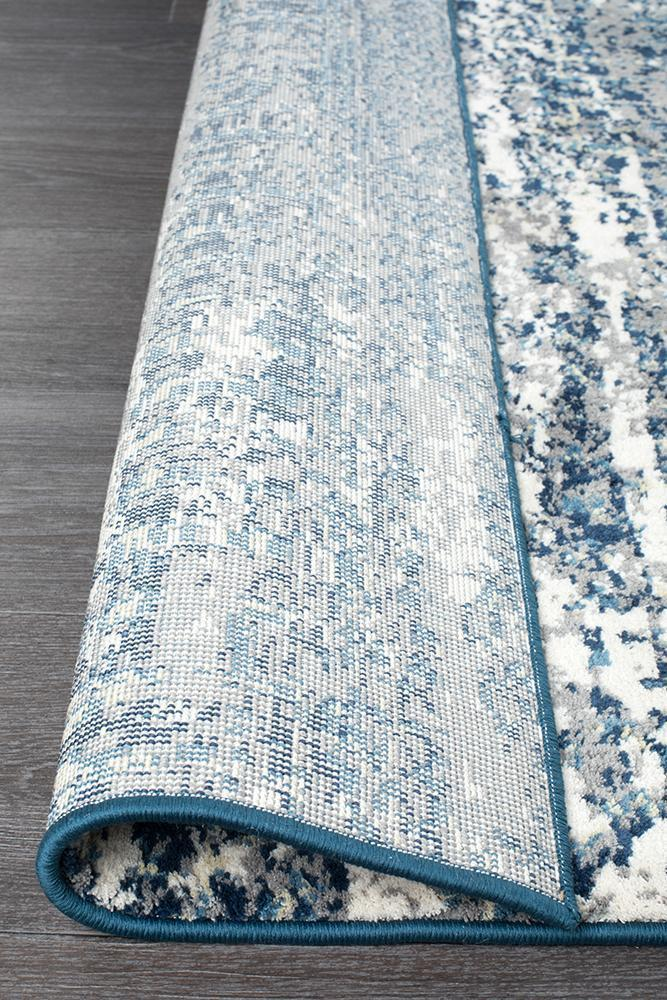 Chelsea Doris Modern Rug Blue Cream