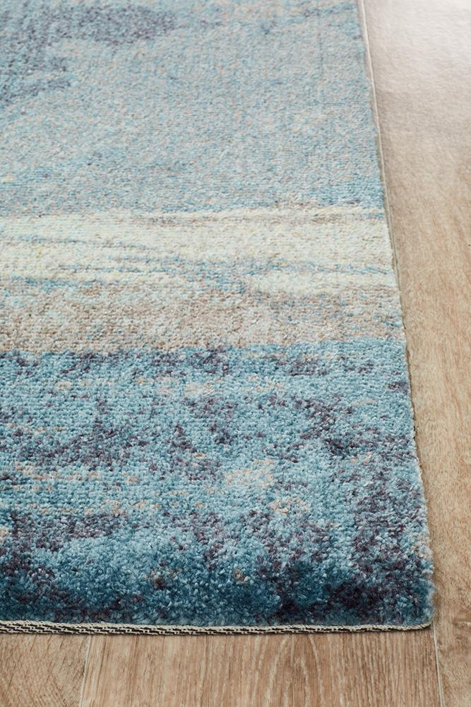 City Monet Stunning Blue Runner Rug