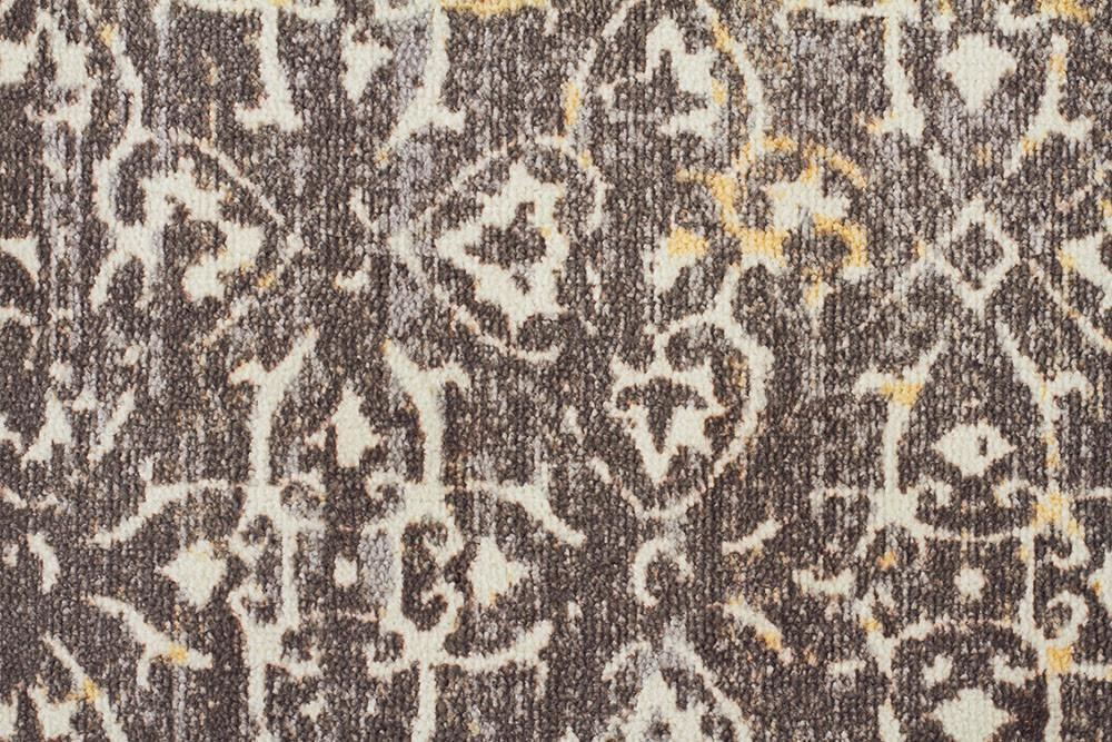 City Faded Modern Brown Rug