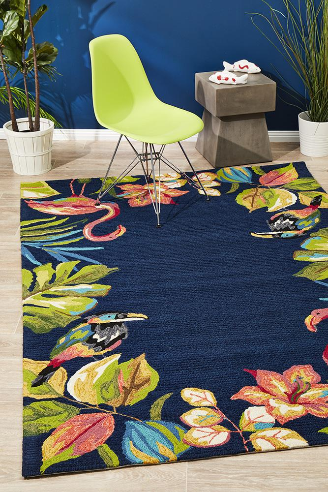 Copacabana Tropical Garden Stunning Indoor Outdoor Rug