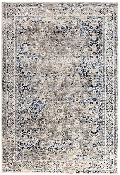 Drift Isfahan Transitional Modern Rug Navy White Grey