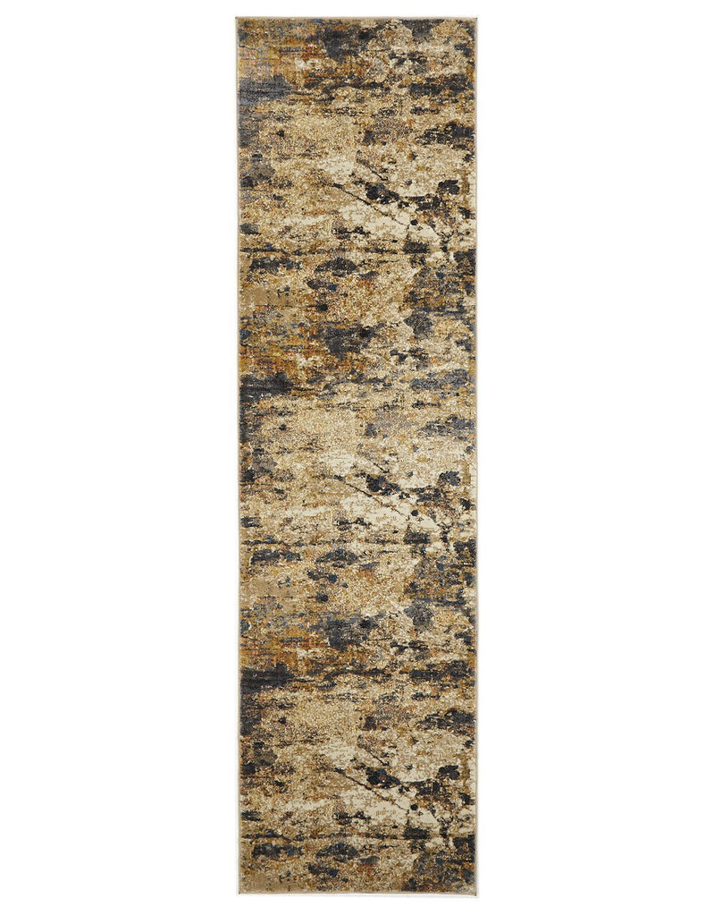 Dreamscape Tribute Modern Rust Runner Rug