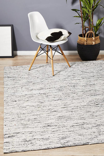Escape Eliza Stunning Flat Woven Rug Silver