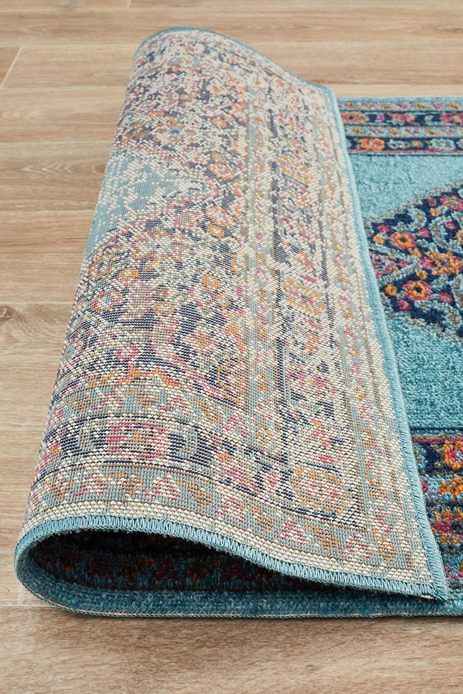 Eternal Whisper Diamond Blue Runner Rug