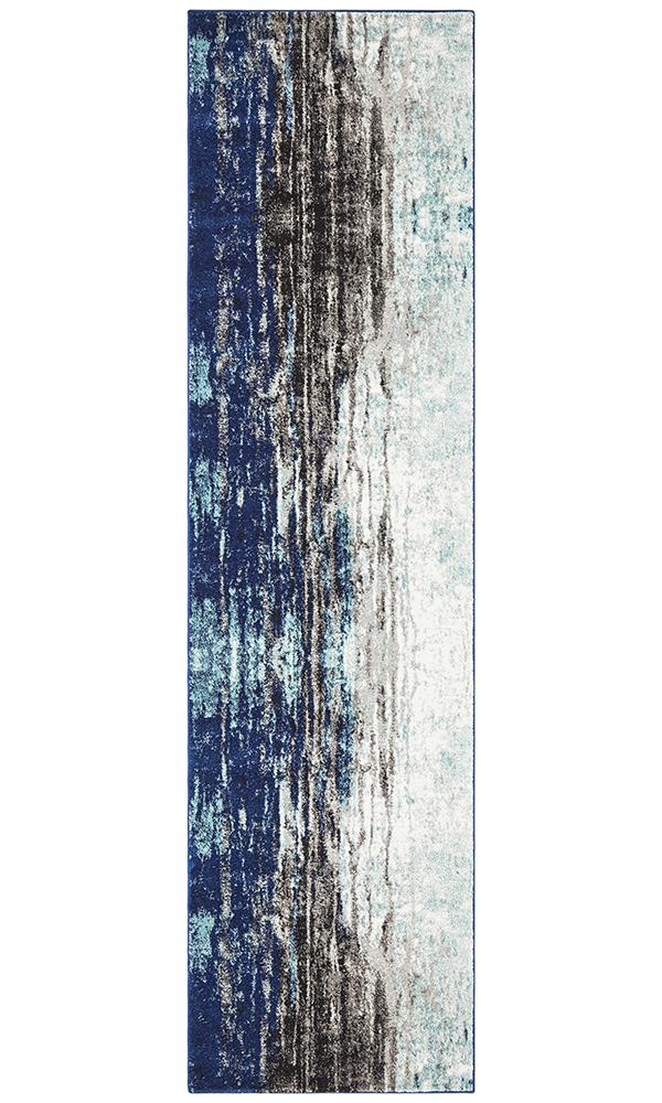 Evoke Transpose Blue Transitional Rug