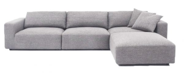 Harley Sofa and Ottoman Grey