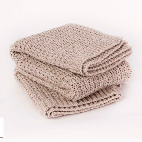 Jasmin Wool Throw Natural