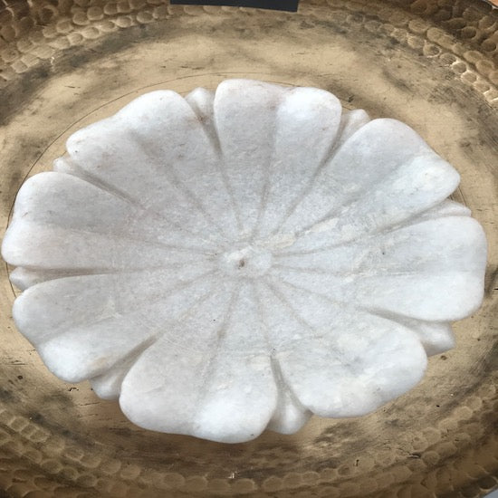 Marble Flower Candle Holder