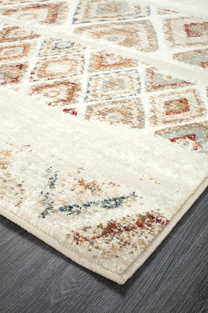 Oxford Mayfair Contrast Rust Rug