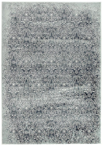 Oxford Mayfair Edge Denim Rug