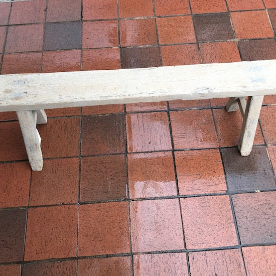 Old Elm Wood Bench