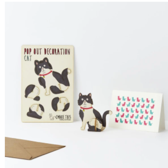 Pop out card and decoration  Cat
