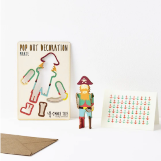 Pop out card and decoration Pirate