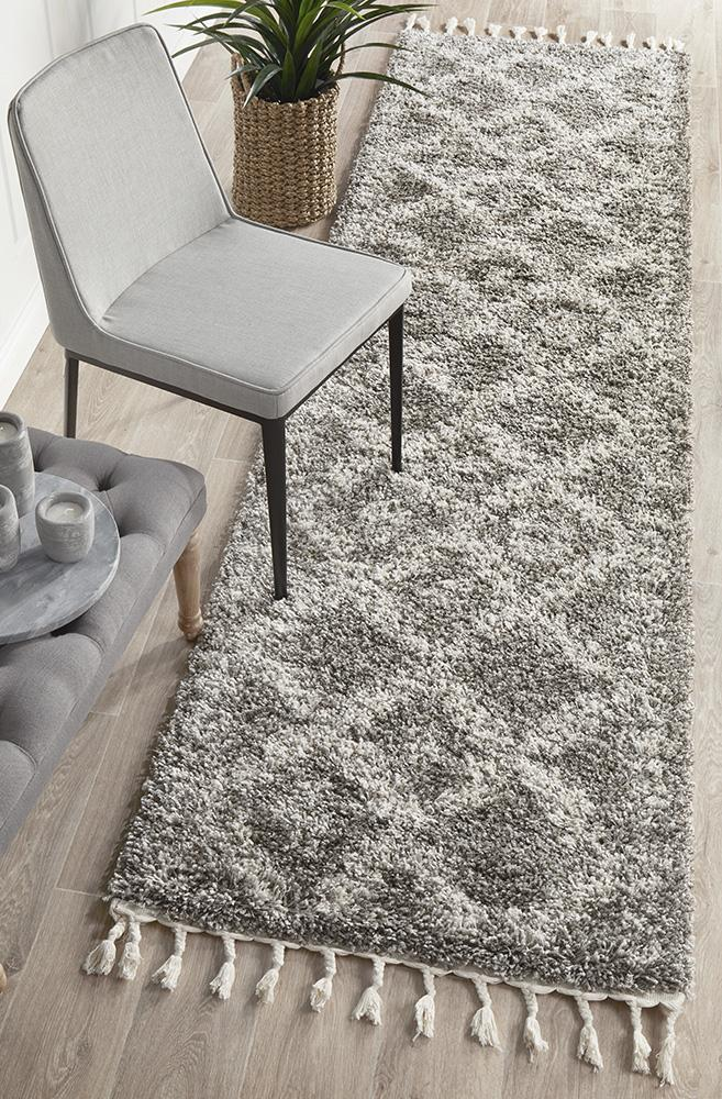 Saffron 33 Grey Runner Rug