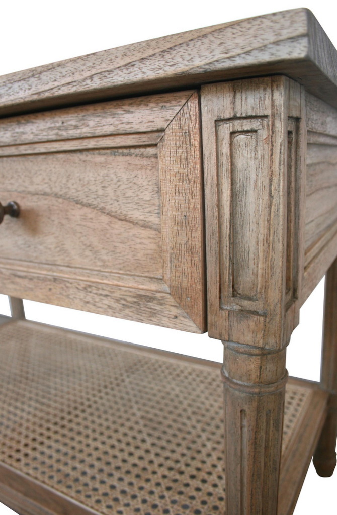 Weathered Oak Hamilton Wide Nightstand