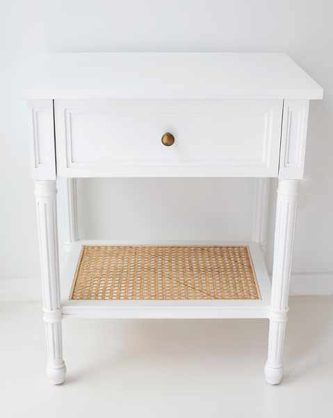 White Hamilton Bedside Table