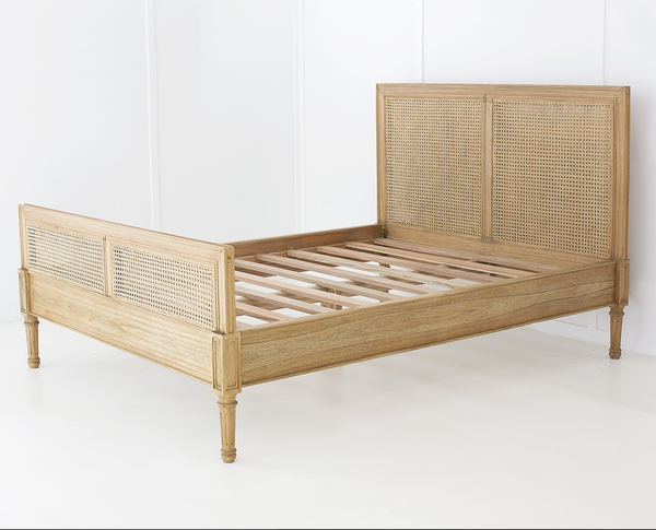 Weathered Oak Hamilton Bed Queen Size