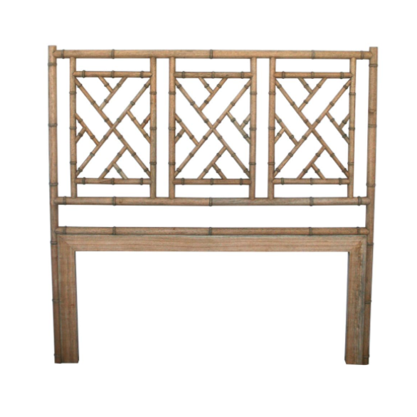 Weathered Oak Chippendale Bedhead King Size