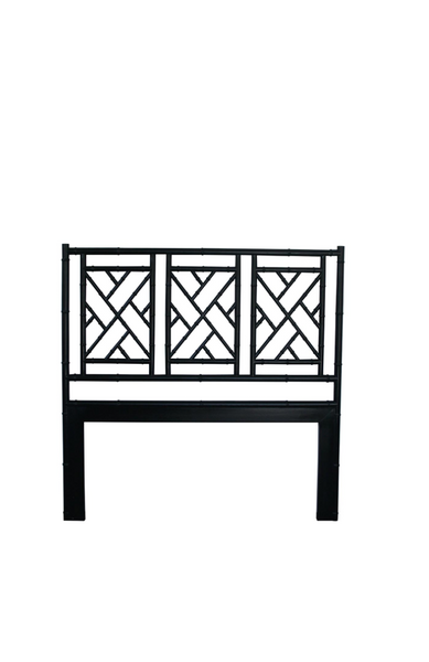 Black Chippendale Bedhead Queen Size