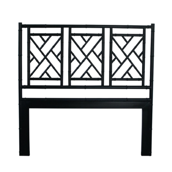 Black Chippendale Bedhead King Size
