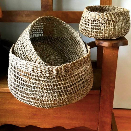 Seagrass Storage or Pot Baskets