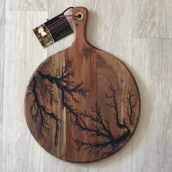 Wooden Fractal Burnt Serving Boards