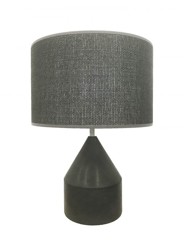 Anders Stone Lamp Small Black