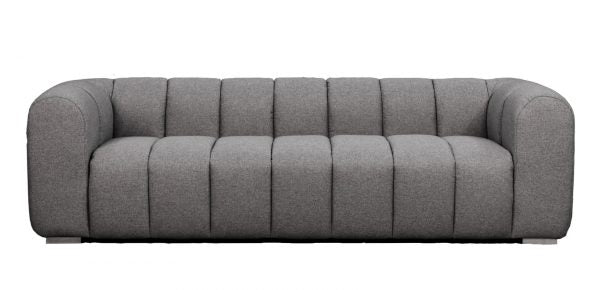 Clarence Ribbed Sofa Grey