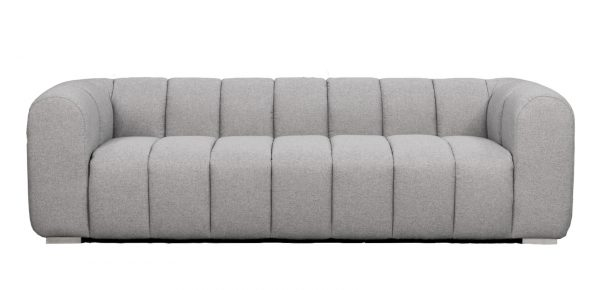 Clarence Ribbed Sofa Charcoal