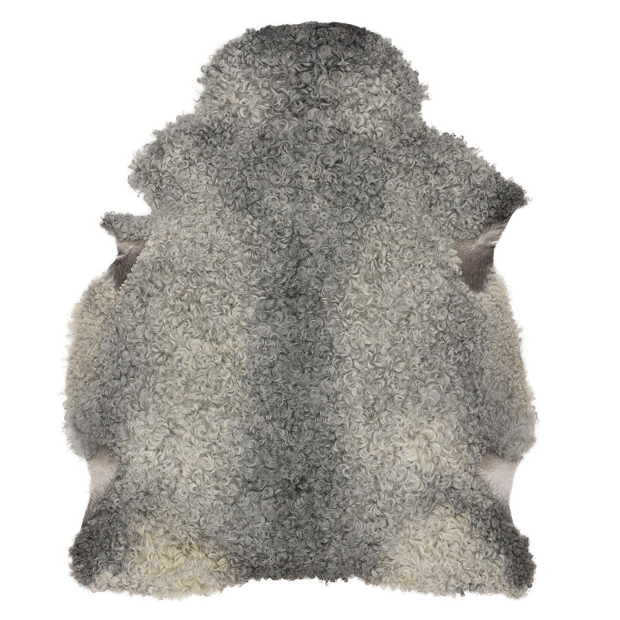 LUXE LOVER gotland sheep skin rug LIGHT GREY