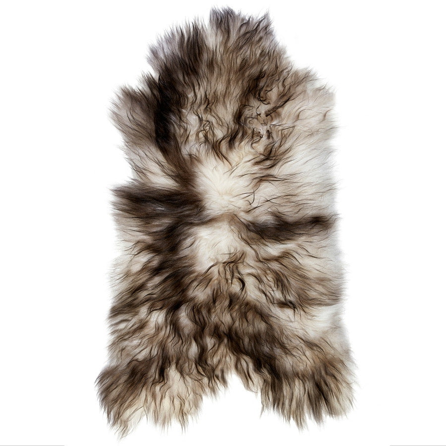 LUXE LOVER Icelandic SHEEPSKIN Natural White w/black tips