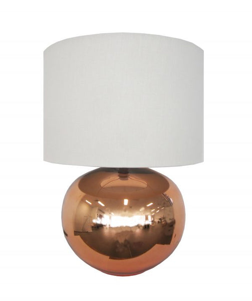 Ava Copper Lamp/ Linen