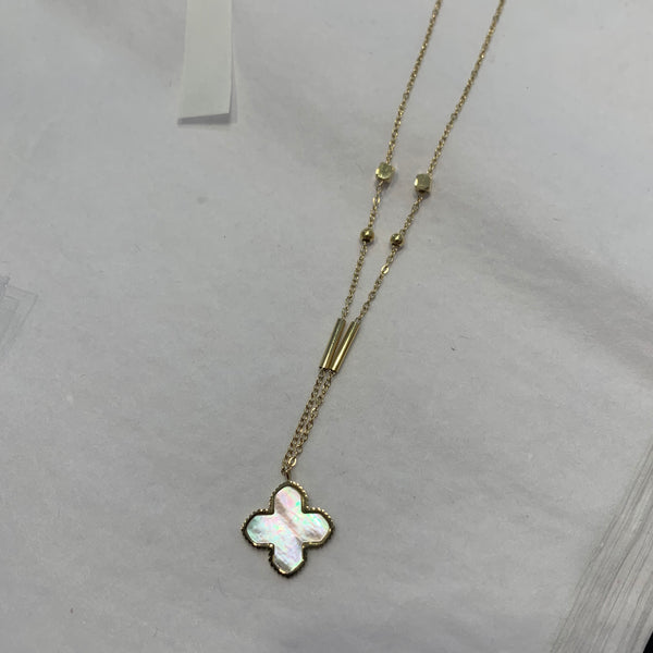 Cross Stone Necklace long