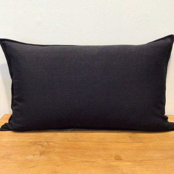 Black Lumbar Cushion Cover