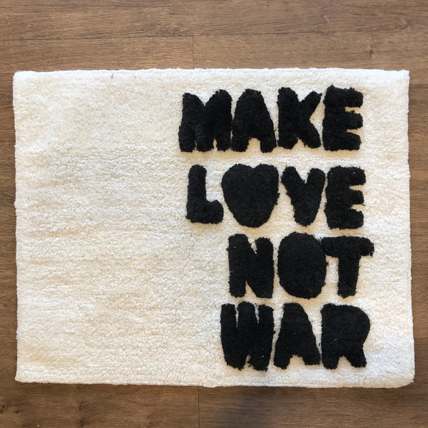 Bath Mat Make Love Not War