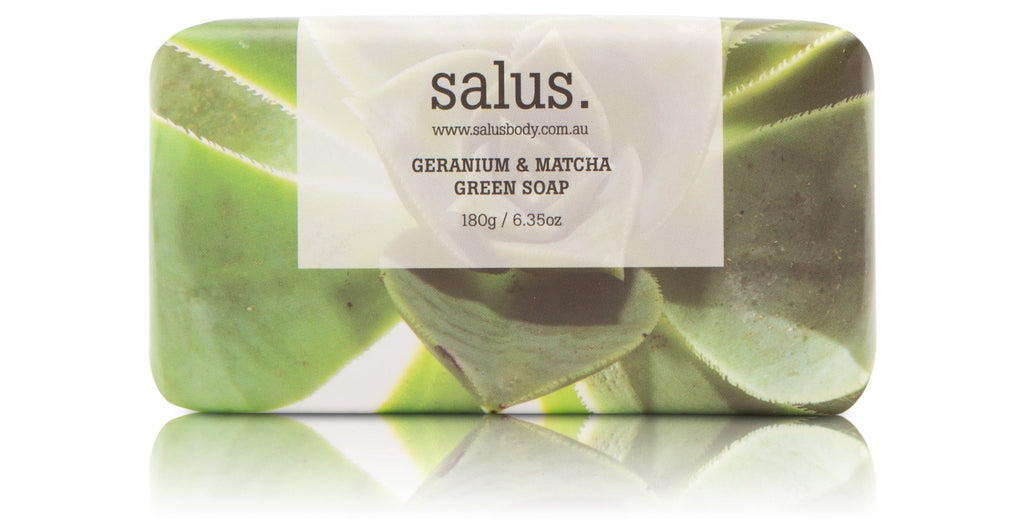 Salus Geranium and Matcha Green Soap