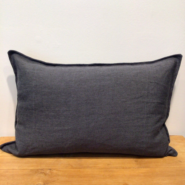 Charcoal Oatmeal Lumbar Cushion Cover