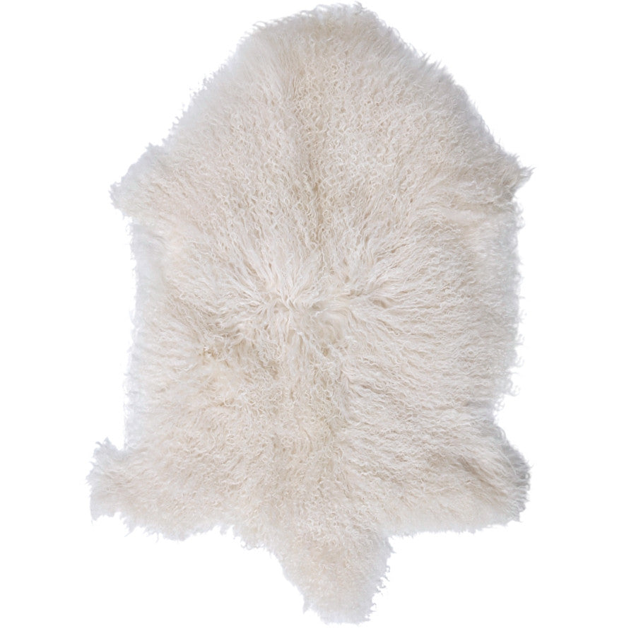 LUXE LOVER Mongolian SHEEPSKIN White