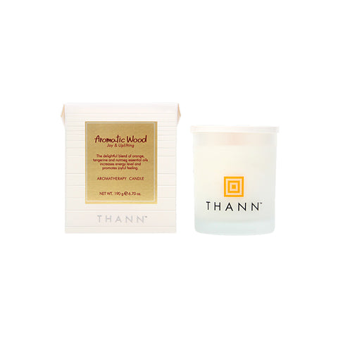 Aromatic Wood Aromatherapy Candle 190g - Thann