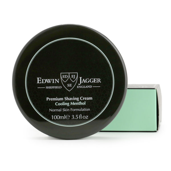 Natural Premium shaving cream, Cooling Menthol, 100ml/3.4fl oz bowl - Edwin Jagger