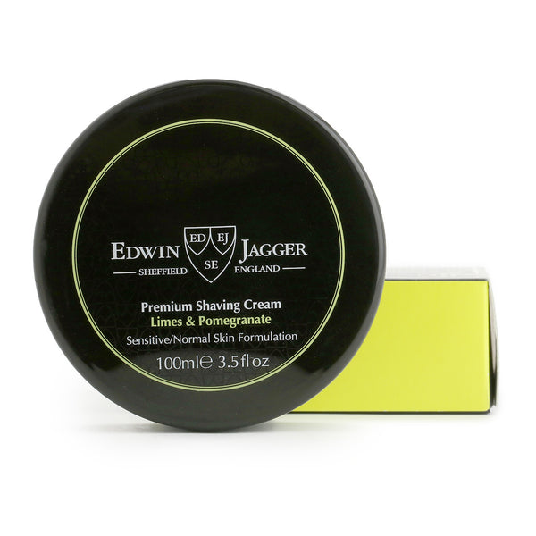 Natural Premium shaving cream, Limes & Pomegranate, 100ml/3.4fl oz bowl - Edwin Jagger