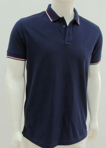 Solid Polo with France Stripe Collar - HOM